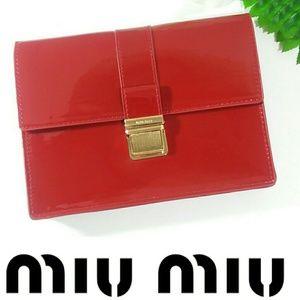NWOT MIU MIU ~ PRADA ~ RED CLUTCH